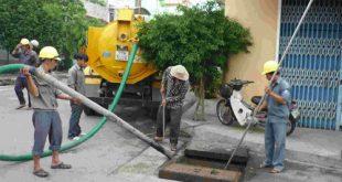 Dịch vụ hút bể phốt tại quận Ba Đình 24h 100K/M3