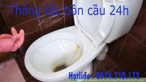 Thông tắc bồn cầu 24h